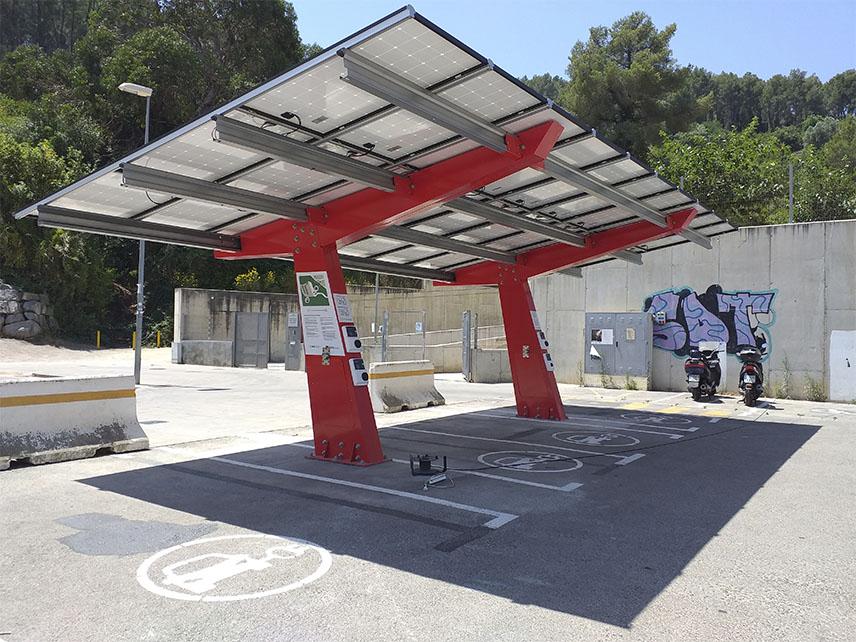 marquesinas fotovoltaicas para vehiculos